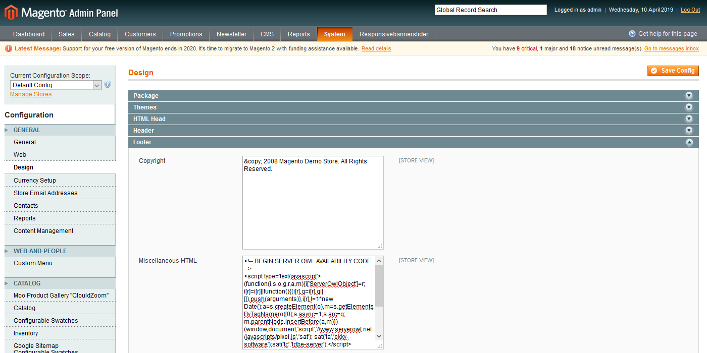 Miscellaneous HTML field in Magento 1
